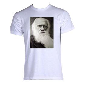 Camiseta Charles Darwin - Camisetas Manga Curta Masculino no Mercado ... 5b247126d9d