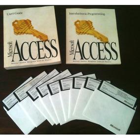 Microsoft Access Original: Manuais E Disquetes 5 1/4