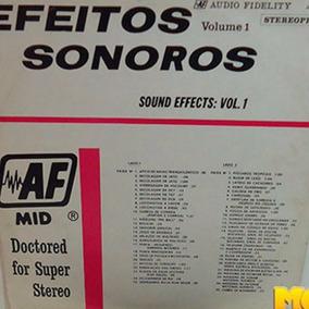 Efeitos Sonoros Volume 1 1982 Sound Effects Lp Trovão Porta