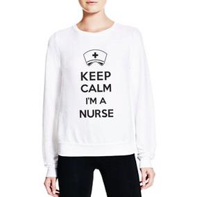 Sudadera Mujer Con Diseño Keep Calm Nurse Enfermera