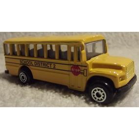 Maisto 1/64 Auto Fresh Metal: Ônibus School Bus District (a)