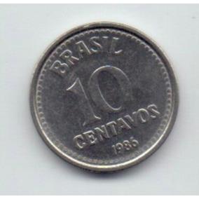 Moeda De 10 Centavos Antiga - 1986 - Frete Grátis!