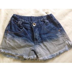 Shorts Jeans Infantil Feminino Tamanho 3