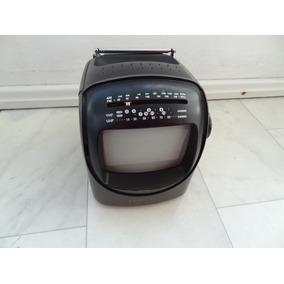 Mini Tv Portatil 5 Polegadas P&b Am Fm Monitor Audio Video