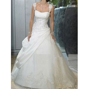 Promoção Vestido De Noiva Trapézio - Manequim 36 A 40