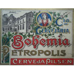 Rótulo Original Bohemia Cerveja Antiga Década De 1898