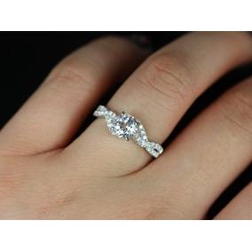 f7120c83091a9 Anel Solitário Em Ouro Branco18k Mais 30 Pontos Em Diamantes