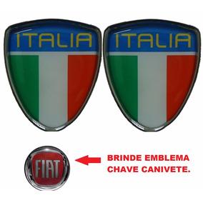 Emblemas 2 Escudo Itália Punto- Escudo Italia Fiat Punto
