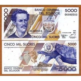 Equador 5000 Sucres 1999 P. 128c Fe Cédula - Tchequito