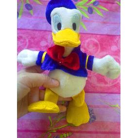 Pato Donald De Peluche Con Ropa Y Gorro Azul 86256ae2579