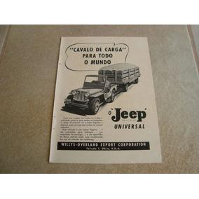 Propaganda Antiga Willys Jeep 1951 Ford 4x4 6cc F-75 Rural