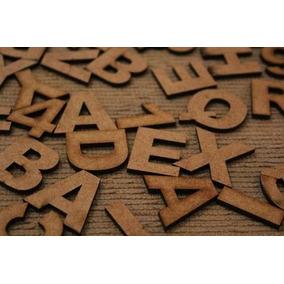 Kit Especial 160 Letras Em Mdf Cru 3cm Altura