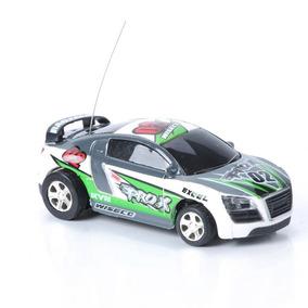 Mini Carro Lata Refrigerante Controle Remoto Cone Farol Roda