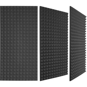 6e80171c2db Espuma Acustica Piramidal Lamina 2m X 1.20m Panel Quita Eco