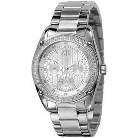 43fc1e2e999 Relógio Armani Exchange Branco E Prata Com Strass - Joias e Relógios ...