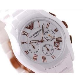 ed061358f92 Relogio Emporio Armani Ceramica Branco 1435 - Relógios De Pulso no ...