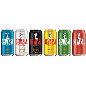 Set Com 6 Latas Cerveja Devassa One - Vem Pra Pelada 350ml
