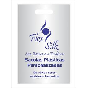 250 Sacolas Plásticas Personalizadas 30x40cm Alça Vazada Hd