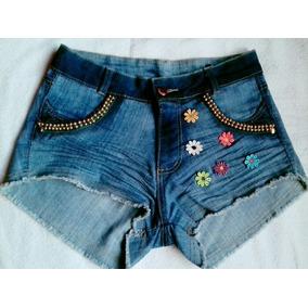Short Jeans Customizado Enrugadinho