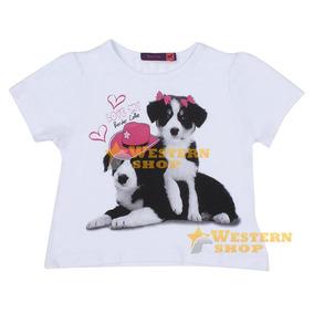 525749b910 Camiseta Infanto Juvenil Girls Estampada Branco - Tassa 1460