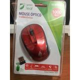 Mouse Optico Inalambrico Green Leaf 1000 Dpi Wireless 15 Mtr