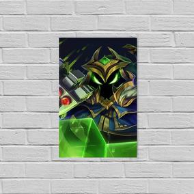 Placa Em Alumínio League Of Legends Veigar Chefão Final 20