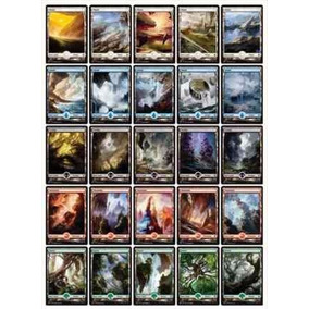 15 Terrenos Básicos Full Art De Magic Bfz - Frete R$8