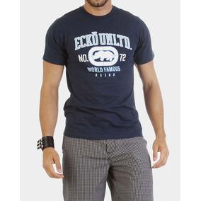 34c2033dfdb Camiseta Masculina Ecko Unltd Azul Marinho Estilo Fit