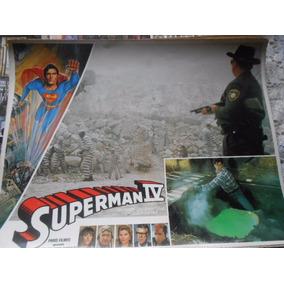 Superman Iv Lote Com 6 Fotos Cartaz Original Do Filme