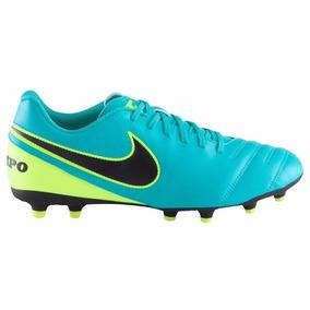 buy popular c8c30 b0890 Taco Nike Tiempo Rio Iii Fg Azul Con Amarillo Caballero 2016