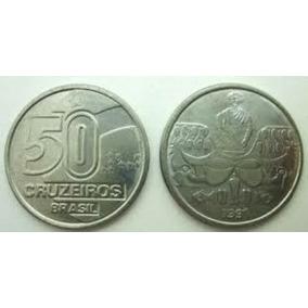 Moeda Antiga 50 Cruzeiros 1991bahiana