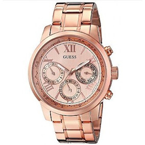 Relógio Feminino Guess U0330l2 Rose Dourado Multi-function