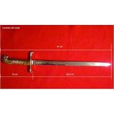 Replica Artesanal Sable Couteaux- Empuñadura Baño Oro 24 K