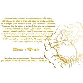 10 Convite Casamento Civil Rosa Com Dourado Ju Uva