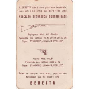 Calendário Bolso 1967 - Beretta - Aj8