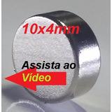 100 Pçs Super Imã Neodímio 10x4mm Potente Suporta 2,5kg