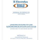 Manual Serviço Lavadora Electrolux Ltr10 Ltr12 Lts12 Ls12q