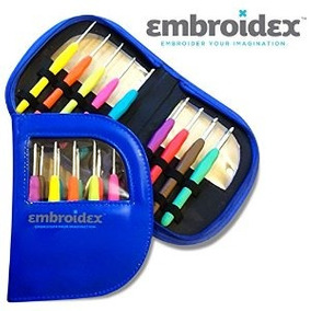 Embroidex 9 Pc Ergonómicos Crochet Hooks Agujas - Color Code