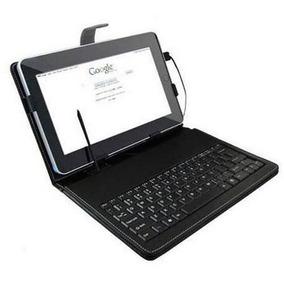 Capa Case Cores Com Teclado Usb Em Português Para Tablet 7´