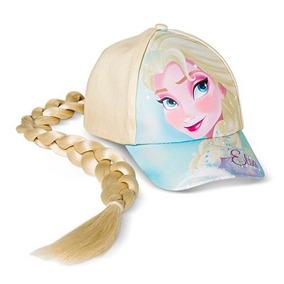 d395e5fd6b706 Boné Frozen Elsa Com Aplique De Trança Licenciado Disney