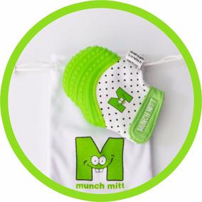 Munch Mitt, Guante De Dentición, Mordedera Para Bebé - Verde