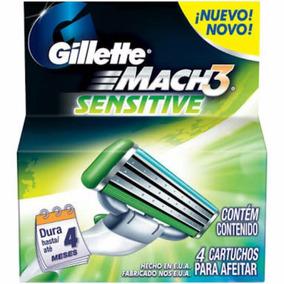 Kit Gillette Mach3 Ap.+ Carga C  2 Und Grátis Porta Chuteira · Carga  Gillette Mach3 Sensitive C  08 Unidades 769df51a1ab6b