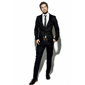 Traje Entallado C  Pantalon Chupin Camisa Entallada Corbata 58cd2cb2083