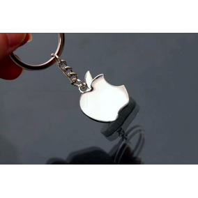 Chaveiro Apple Metálico Da Maça Aço Inoxidável Impecável