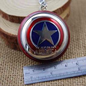 Chaveiro De Metal Escudo Do Capitão América