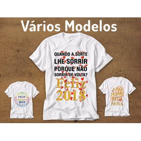 Kit 2 Camisetas Réveillon Ano Novo Feliz 2018 Feliz Ano Novo 5ed777b34c0