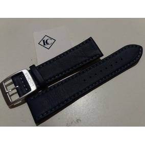 Pulseira Couro P/ Relógios Locman - 22mm - Azul - Swiss