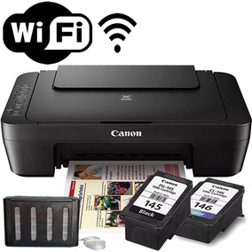 Impressora Multifuncional Wireless + Bulk Ink Mg3010 Canon