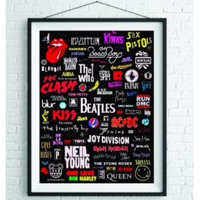 Poster Bandas De Rock - Frete Grátis