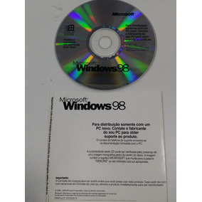 Microsoft Windows 98 Original Sistema Operacional